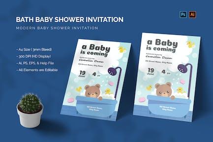 Bath - Baby Shower Invitation