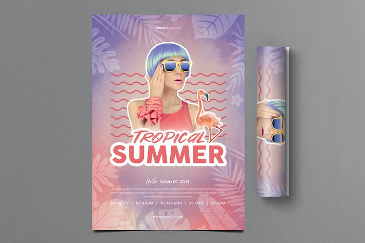 Thumbnail for Tropical Summer Party Flyer