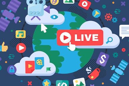Global News Live Streaming Illustration