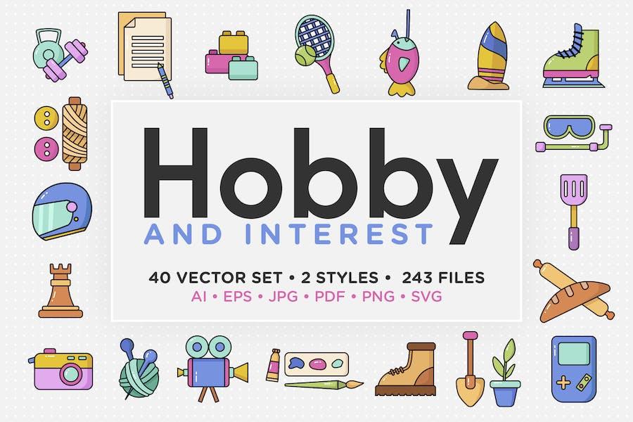 Hobby & Interest Vector Icon Set