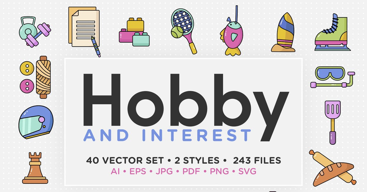 Download Hobby & Interest Vector Icon Set by telllu
