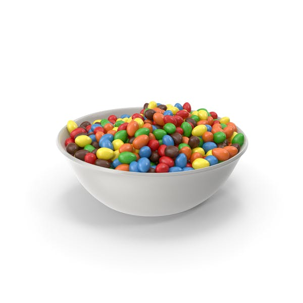 Thumbnail for Bowl with Peanuts with Colored Chocolate Coating