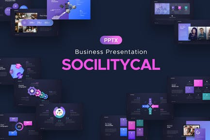 Sociliytical Business Powerpoint Template