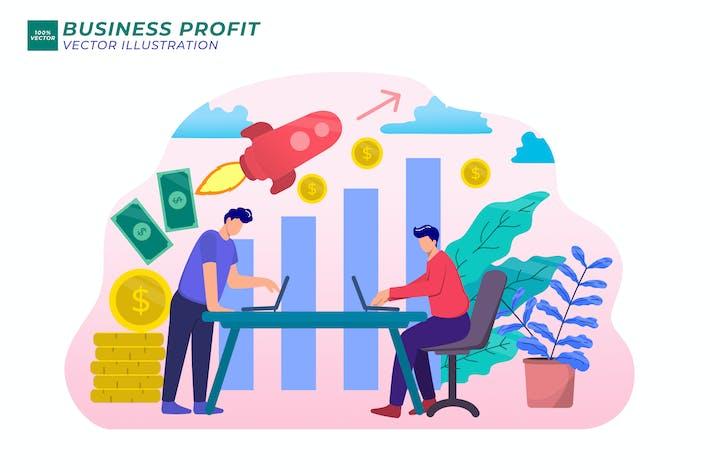 Business Profit Flat illustration