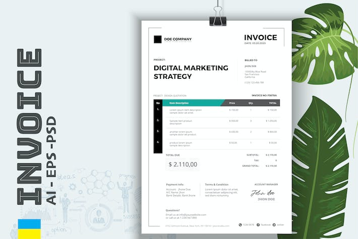 Cover Image For Invoice Business Pro