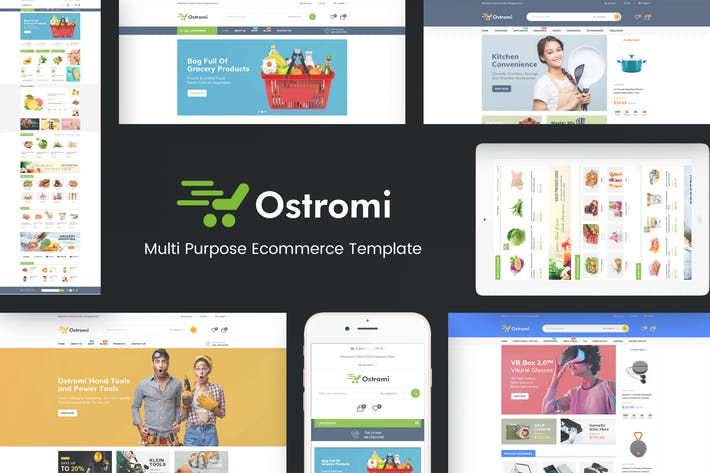 Thumbnail for Ostromi - OpenCart Theme