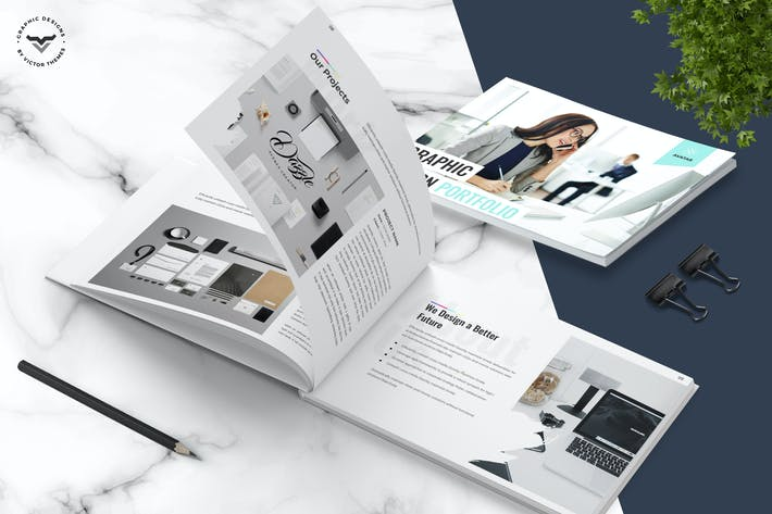 Thumbnail for Graphic Designer Portfolio Brochure Template