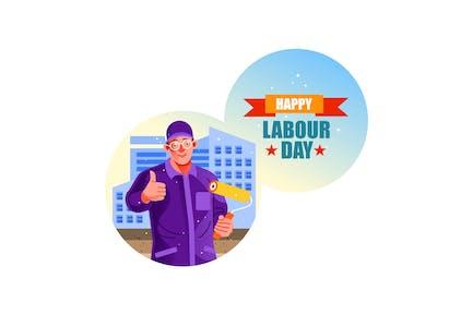Baumaler Happy Labour Day