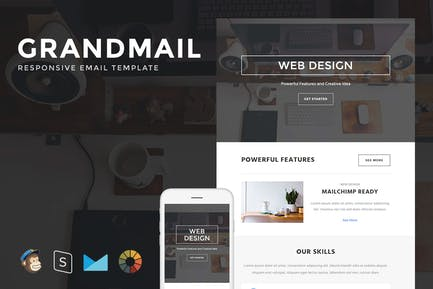 GrandMail - Responsive Email + StampReady Builder