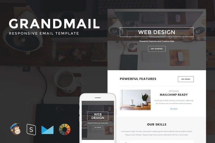 Thumbnail for GrandMail - Responsive Email + StampReady Builder