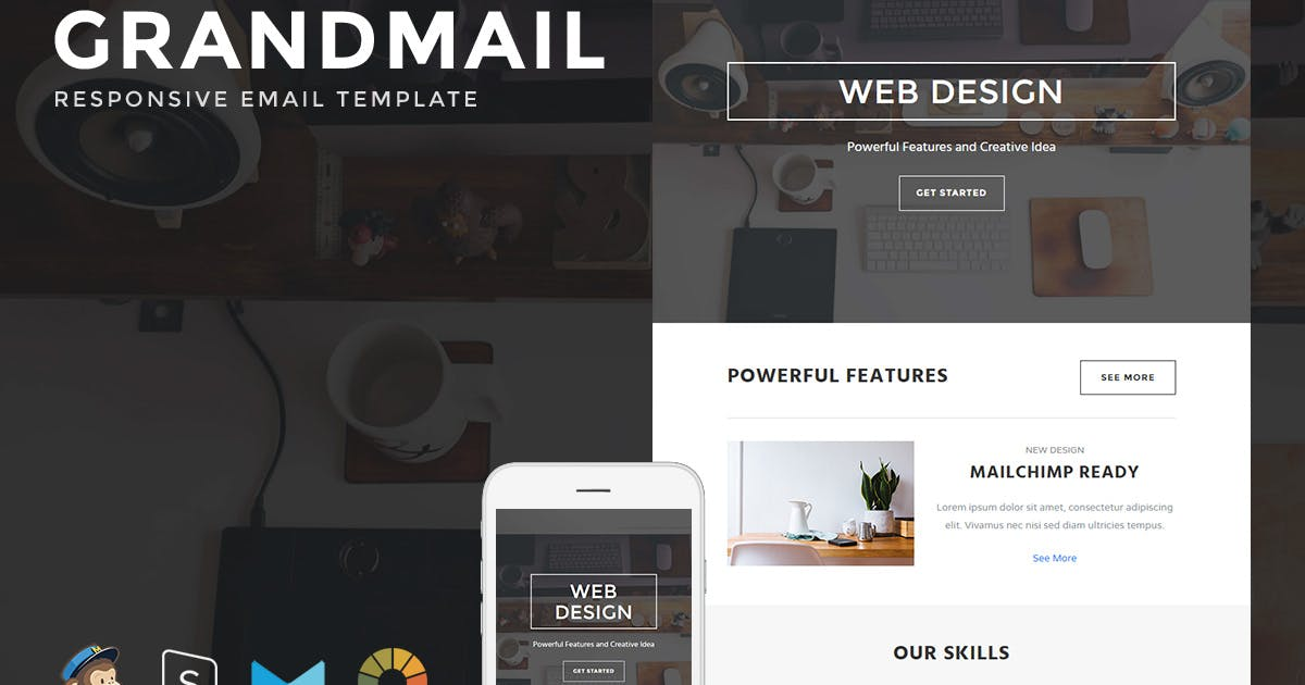 Download GrandMail - Responsive Email + StampReady Builder by LEVELII