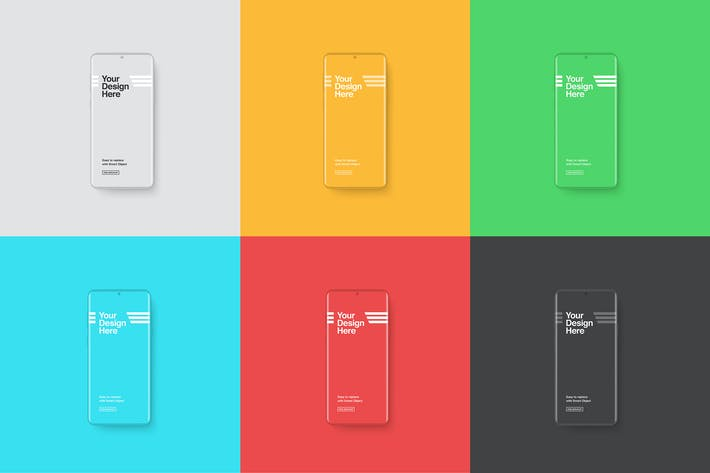 Smartphones Mockup - Clay Color