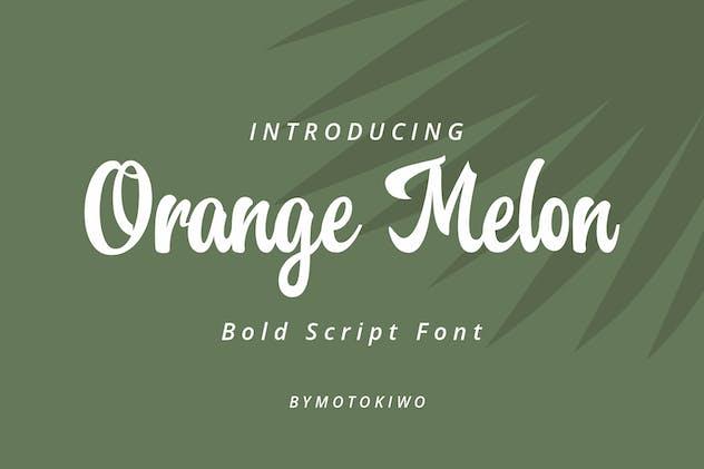 Orange Melon Script Font - product preview 0