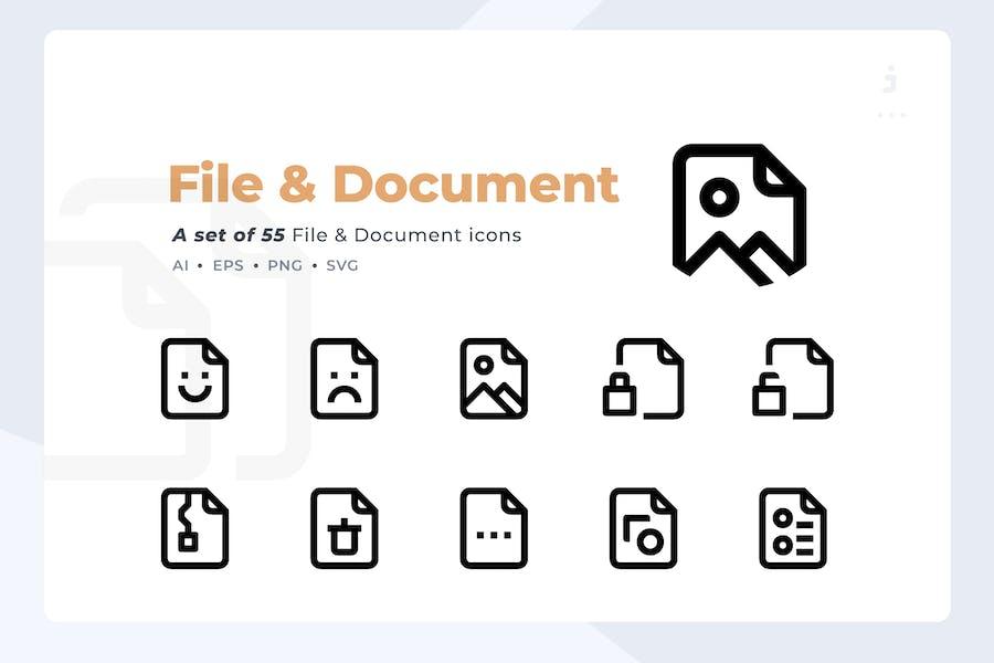 Icono de material - 55 Kit de iconos de archivo y documento