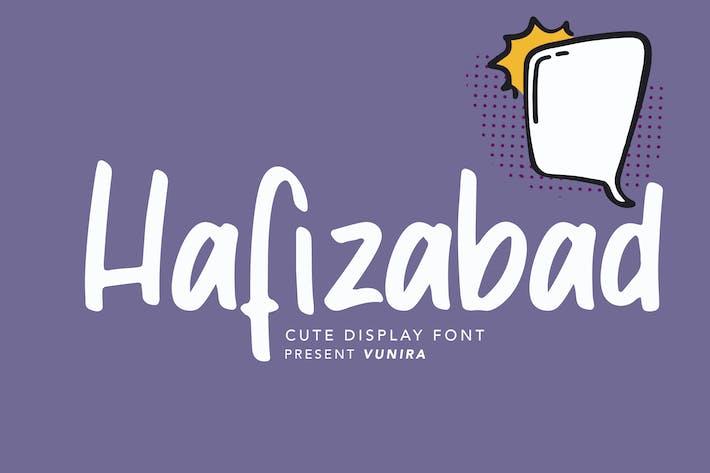 Thumbnail for Hafizabad | Cute Display Font