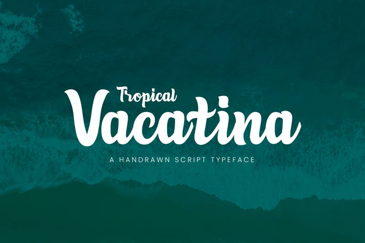 Cover Image For Tropical Vacatina - Bold Script Font