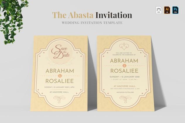 Abasta | Wedding Invitation