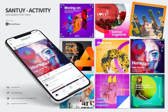 Thumbnail for Santuy - Activity Instagram Post Pack HR