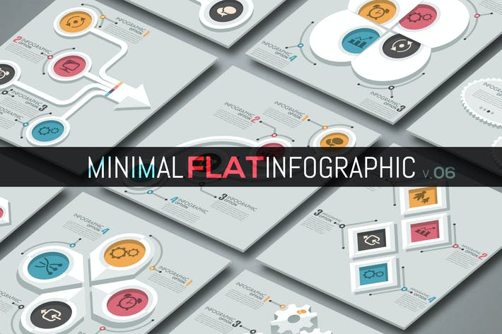 Thumbnail for Minimale flache Infografiken v.06