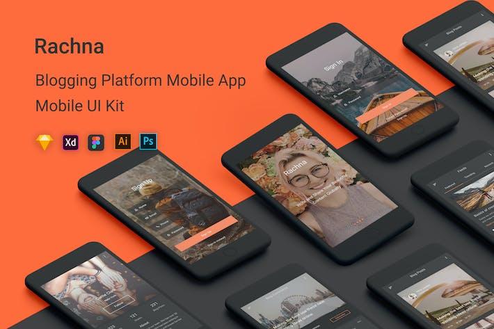 Thumbnail for Rachna - Blogging Platform Mobile App UI Kit