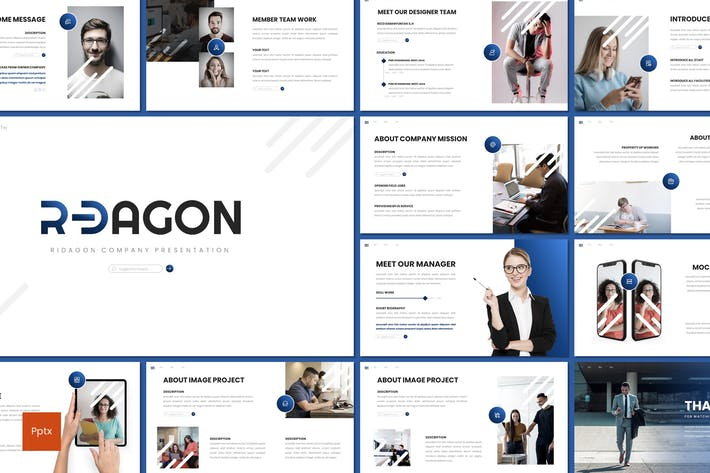 Thumbnail for Ridagon - Business Powerpoint Template