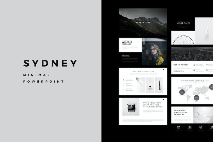 Thumbnail for Sydney Minimal PowerPoint Template