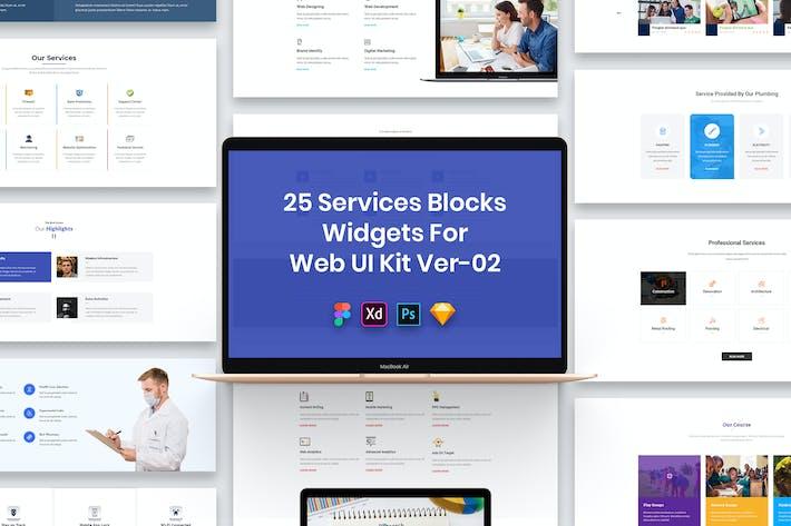 Thumbnail for 25 Services Blocks Widgets for Web UI Kit Ver-02