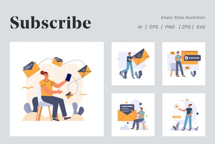 Subscribe Illustration for Empty state