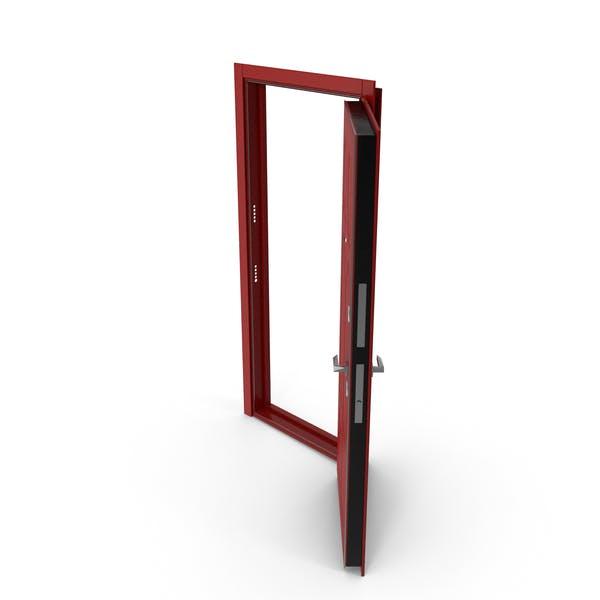Entrance Door Red Open