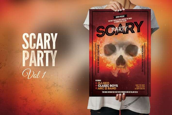 Thumbnail for Scary Party Flyer