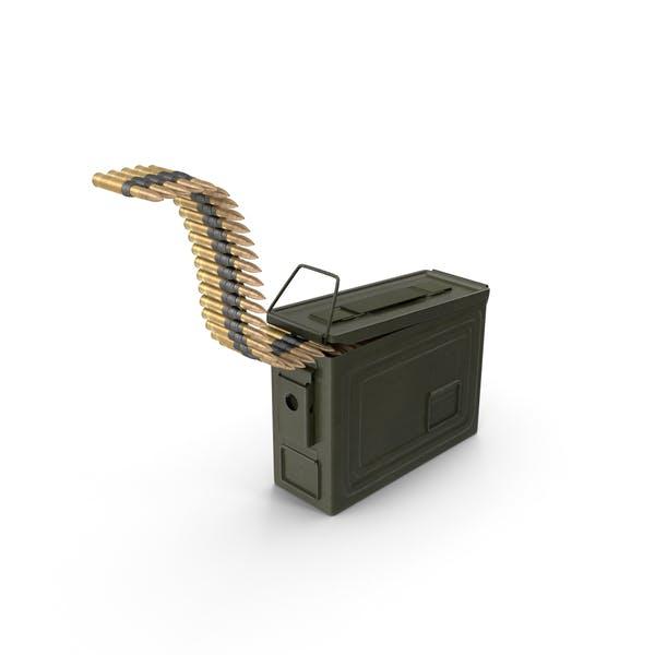 Caja de munición con cinturón