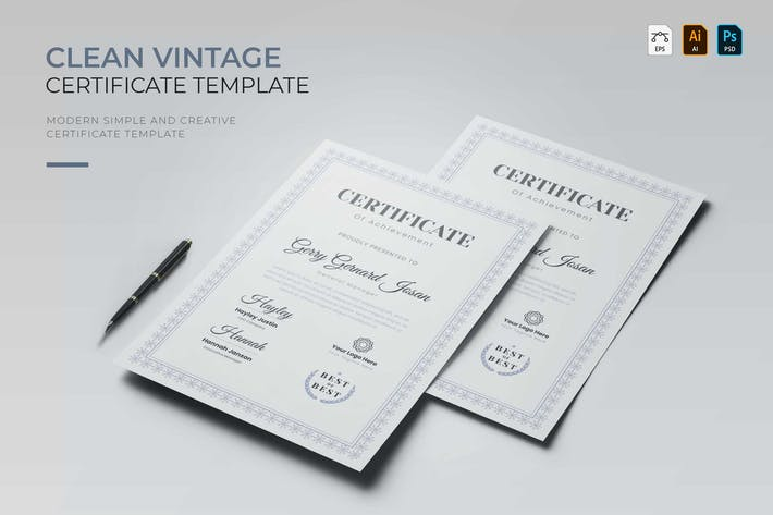 Thumbnail for Clean Vintage | Certificate