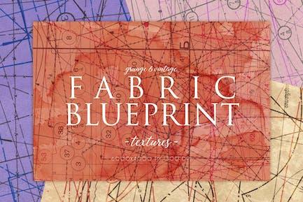 Vintage Fabric Blueprint Textures 2