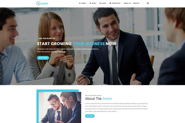 Thumbnail for Amon - Responsive Business Drupal Theme