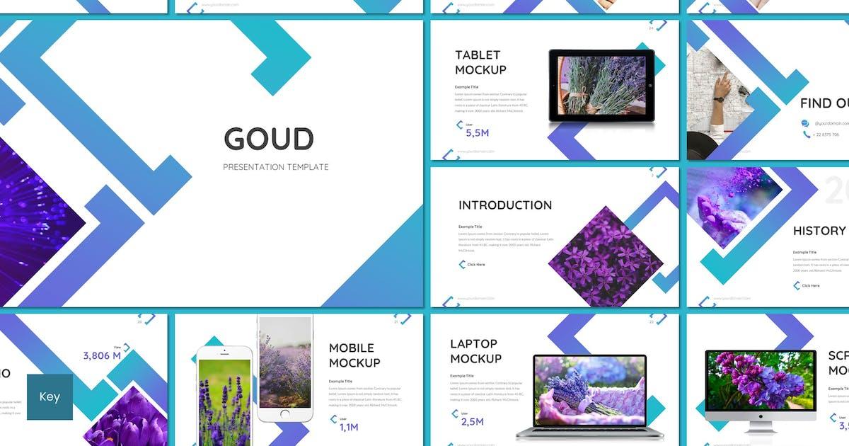 Download Goud - Flower Keynote Template by inspirasign