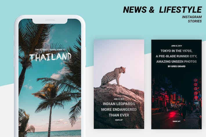 Thumbnail for News Instagram stories templates