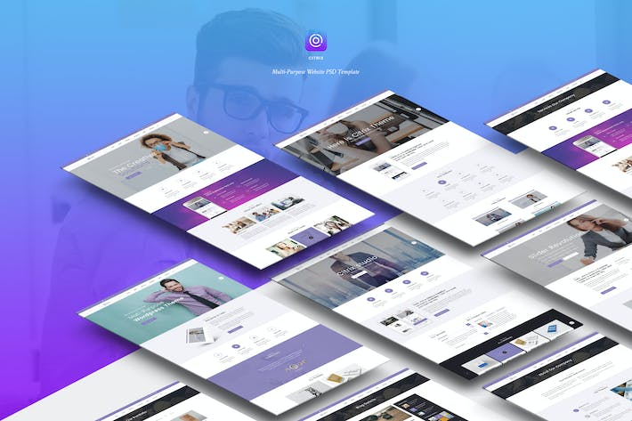 Thumbnail for Citrix | Multi-Purpose Website PSD Template