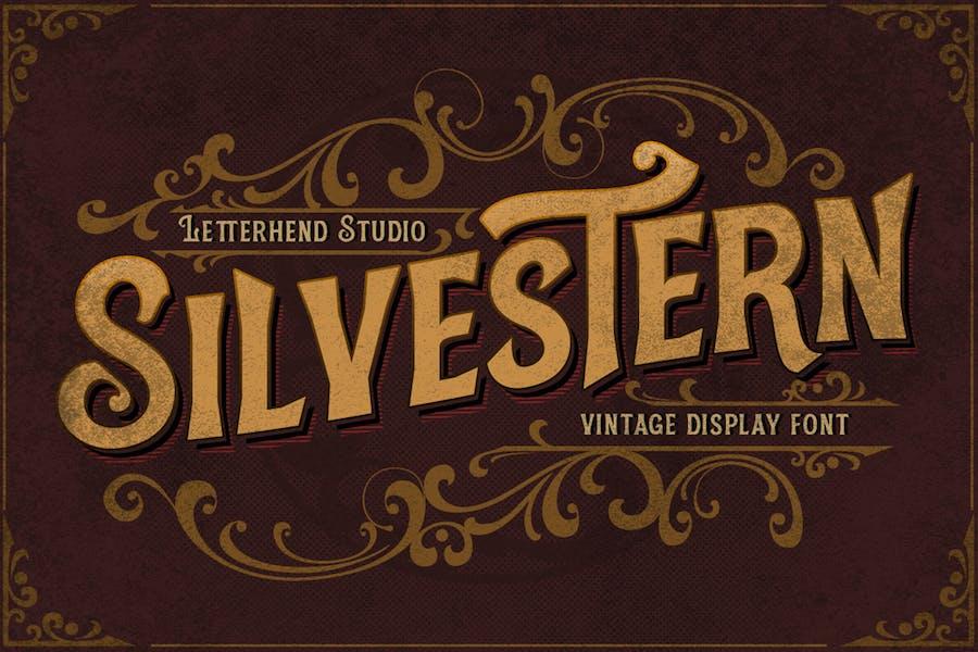 Silvestern - Fuente de visualización vintage