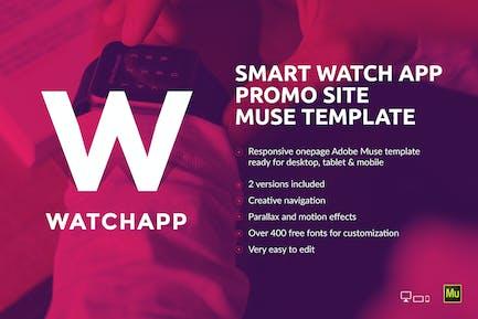 WatchApp - Smart Watch Приложение Промо Муза Шаблон