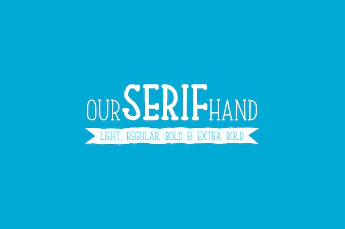 Thumbnail for Our Serif Hand Family