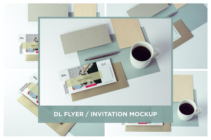 Thumbnail for DL Flyer Mockup Minimal Scene
