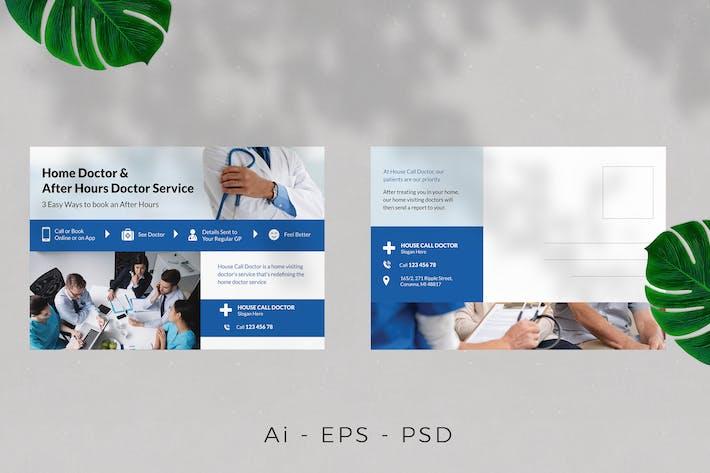 Thumbnail for Krankenhaus/Medizin/Arztpostkarten-Design