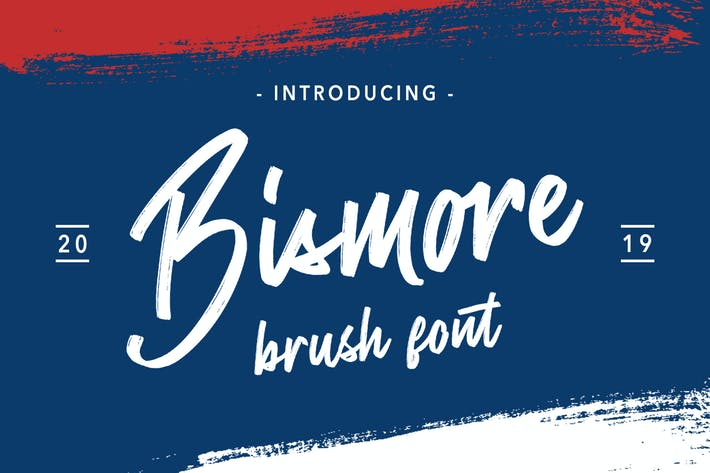 Thumbnail for Bismore - Brush Font
