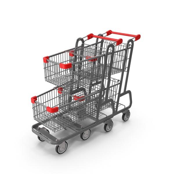 Thumbnail for Metal Shopping Carts Row