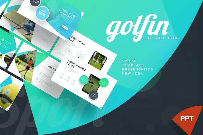 Golfin - Спорт Powerpoint Шаблон