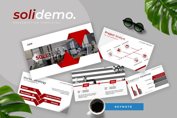Cover Image For Solidemo - Pitch Deck Keynote Presentation