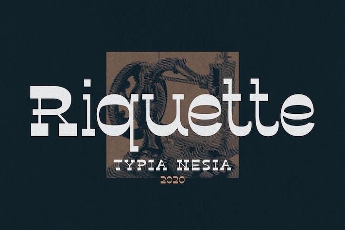 Thumbnail for Riquette - Fuente Con serifa inversa