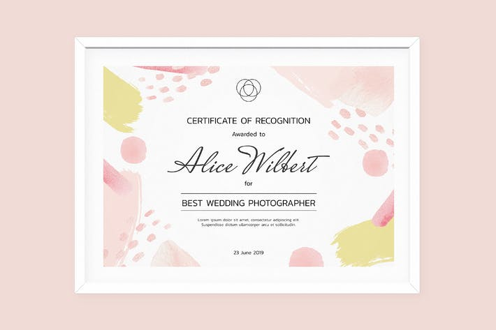 Cover Image For Certificate Template Artistic