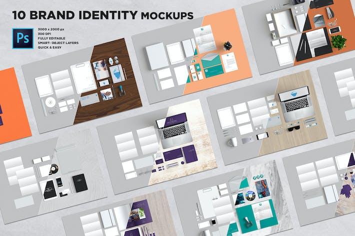 Thumbnail for 10 Branding Stationery Mockups