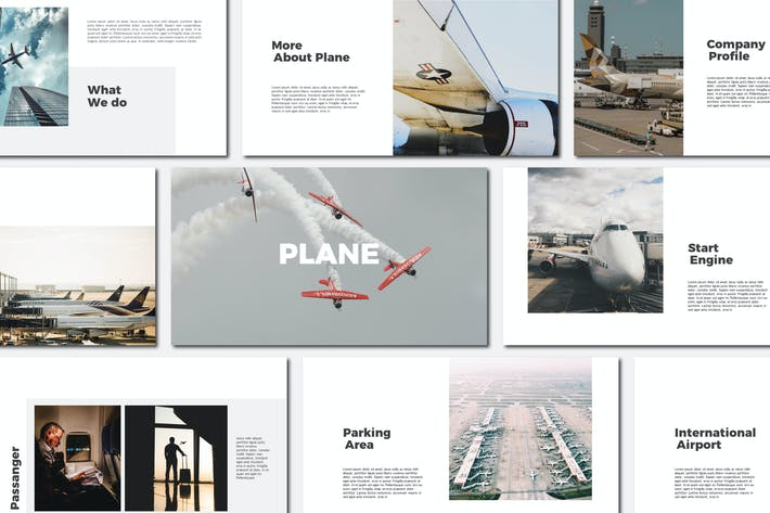 Thumbnail for Plane - Powerpoint Templates